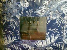 Ralph Lauren King Comforter Tropical Blue Floral 4-pc Set 2 Shams Bedskirt