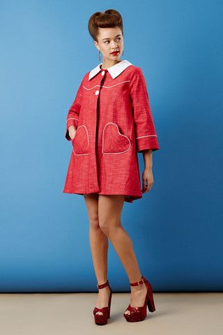Cute heart pockets The Loveheart Coat | Tara Starlet