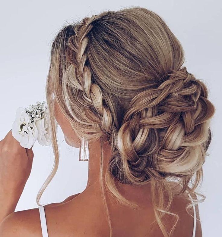 25 opgestoken bruiloft kapsels voor lang haar, we houden van een etherische, rom…