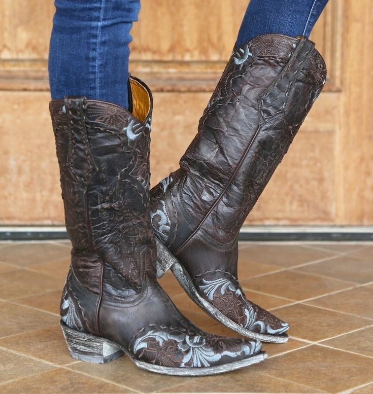 Old Gringo Chocolate Erin Cowgirl Boot L640-1
