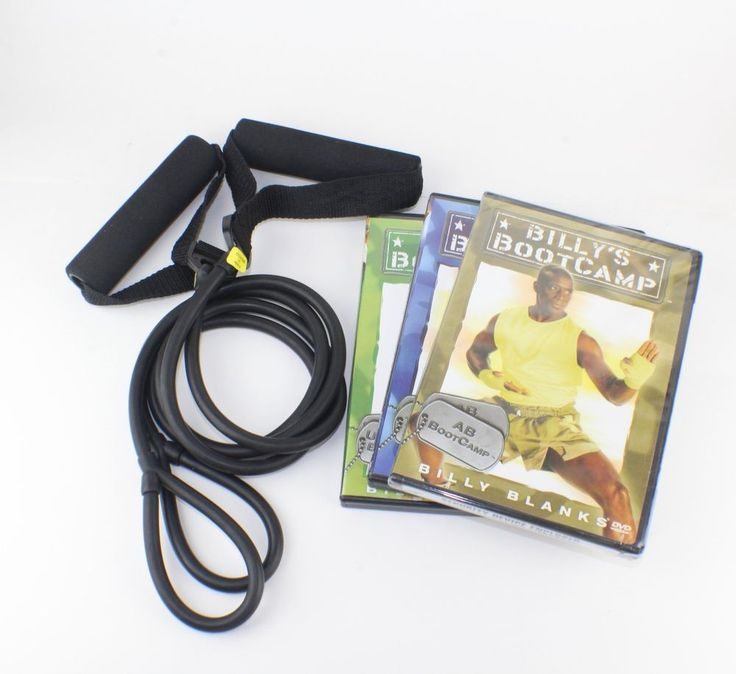 Billy Blanks - Billy's Boot Camp dvd Set With Resistance Bands