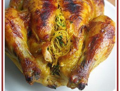 Een+van+mijn+meest+favoriete+Marokkaanse+kiprecepten; gevuld+met+mihoen,kruiden+en+specerijen+en+daarna goudbruin+gebakken+in+de+oven....mmmmmmm.............