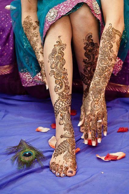 HennaArt.ca: Peacock Themed Wedding