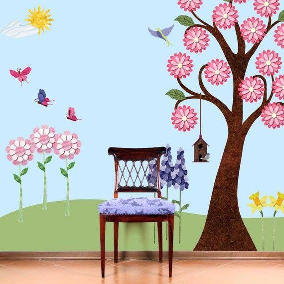 78 Best Images About Garden Murals On Pinterest