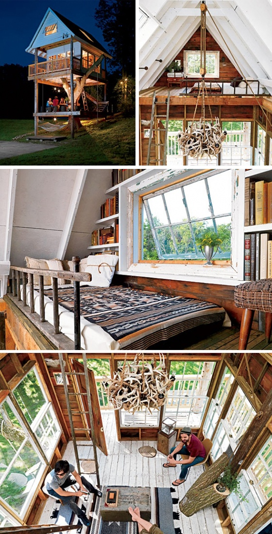 Adult Tree House. Yes please! I would decorate the interior differently but the lay out is awesome!