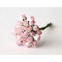 Бутоны крупные св. розово-белые, 5 шт
