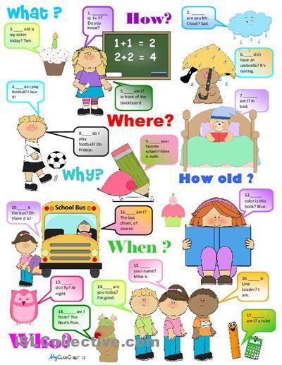 Question Words worksheet - Free ESL printable worksheets made by teachers