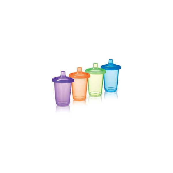 Reusable Twist Tight Spill Proof Cups - 4pk - babyearth.com (41 SEK) ❤ liked on Polyvore featuring sippy cups