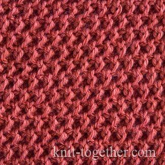 Honeycomb Stitch, knitting pattern chart, Textured Stitches Patterns