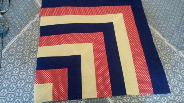 Primary Colour Lap Quilt - Colours more vibrant than pic shows. Boardered with black.
