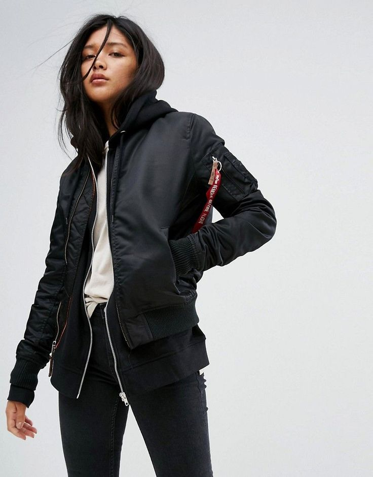 ALPHA INDUSTRIES MA-1VF SOFT SHELL BOMBER JACKET - BLACK. #alphaindustries #cloth #