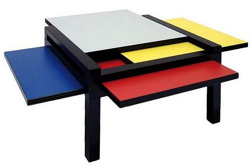 Modrian table by Bernard Vuarnesson (limited edition of his Par 4 Table design).