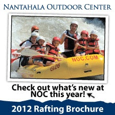 """Rated """"One of the Best Outfitter's on Earth"""" by National Geographic Adventure, NOC has been the leader in the rafting industry since 1972. NOC offers family friendly adventures rafting and paddling the Nantahala River, as well as riverside dining, lodging, shopping, mountain bike rentals, lake kayaking, wilderness medicine training and our world famous Paddling School."""