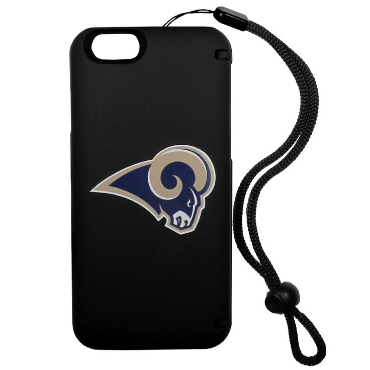 """Checkout our #LicensedGear products FREE SHIPPING + 10% OFF Coupon Code """"Official"""" St. Louis Rams iPhone 6 Everything Case - Officially licensed NFL product Licensee: Siskiyou Buckle Case comes with hidden storage perfect for bills or cards and it has a compact mirror Case back opens to become a kickstand Case comes with handy wrist strap Case features a printed Los Angeles Rams logo - Price: $32.00. Buy now at https://officiallylicensedgear.com/st-louis-rams-iphone-6-everything-case-fi6e130"""