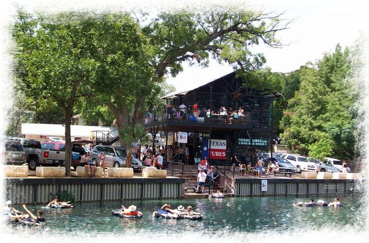 Texas Tubes Floating In The Comal River Weekend