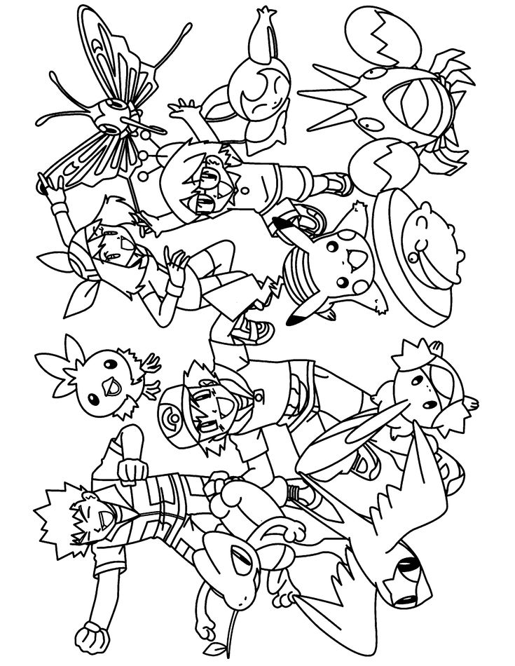 pokemon group coloring pages - photo#4