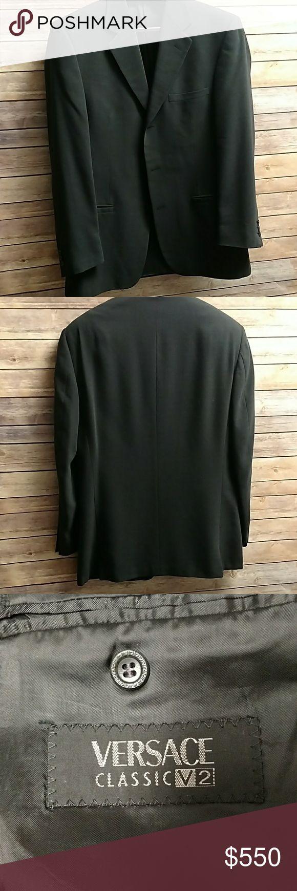 Versace Men's Coat Good used condition.  40 regular??  See pics for details. Versace Suits & Blazers Sport Coats & Blazers