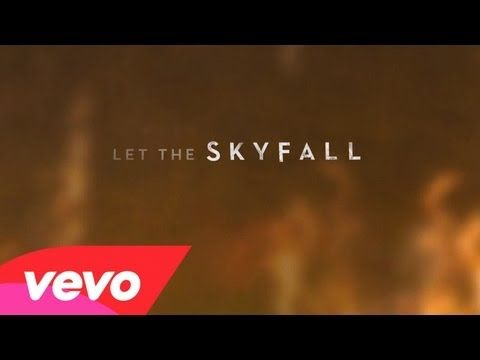Adele - Skyfall   I'm either just in love with anything that has to do with Bond... or just crazy about this song! Adele's voice is flawless..