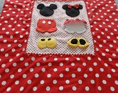Mickey and Minnie Mouse 4Piece Crib Set by BetsysBabyBoutique19. $250.00 USD, via Etsy. Idea for a twin or full-size quilt for my 2 year old when he gets a bed.