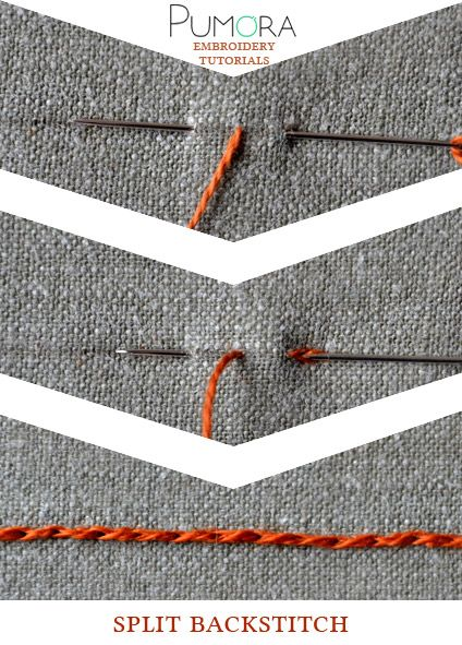 Pumora's embroidery stitch-lexicon: the split back stitch