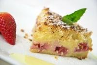 Jahodový koláč s pudingovým krémem