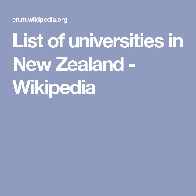List of universities in New Zealand - Wikipedia