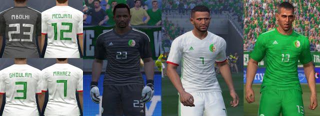 PES 2017 Algeria kits 2018/2019 By ARH Kitmaker - Algeria new 2018
