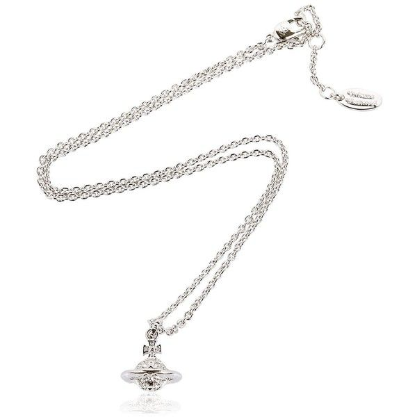 Vivienne Westwood Women Mayfair Crystal Orbit Pendant Necklace ($135) ❤ liked on Polyvore featuring jewelry, necklaces, silver, crystal stone jewelry, pendant necklace, crystal stone necklace, crystal jewelry and vivienne westwood jewelry