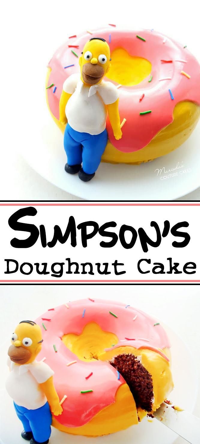 The classic Simpson's donut as a cake!