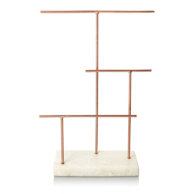 Buy the Copper & Marble Three Tier Jewellery Stand at Oliver Bonas. Enjoy free worldwide standard delivery for orders over £50.