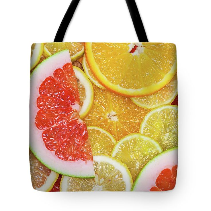 Vitamins Tote Bag by Svetlana Iso.  The tote bag is machine washable, available in three different sizes, and includes a black strap for easy carrying on your shoulder.  All totes are available for worldwide shipping and include a money-back guarantee.