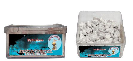 Greek Orthodox Handmade Incense - Bethlehem. Plastic box of 30gr.