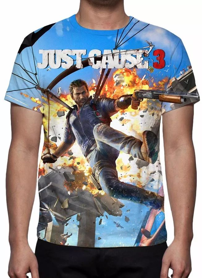 camisa, camiseta game just cause 3 - estampa total