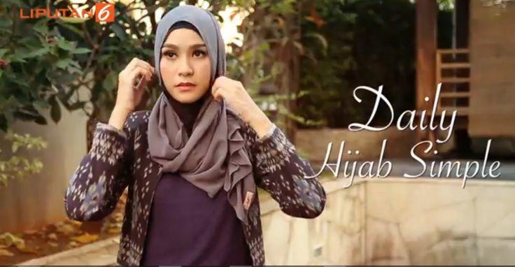 Tutorial Daily Hijab Simple ala Zaskia Meccca