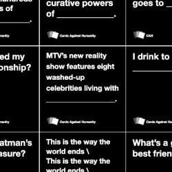 Cards Against Humanity Card Game Examples