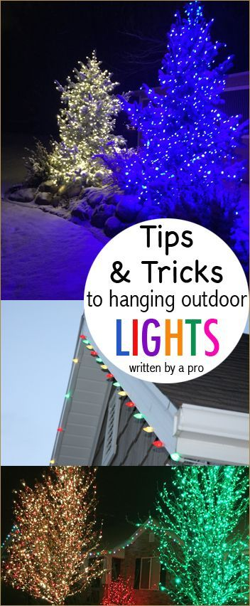 Outdoor Christmas Light Tips and Tricks.  Hang and Wrap Christmas like a Pro.  Written by a Christmas light expert!  Hang and store Christmas lights the right way!