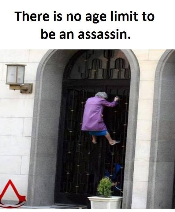 Ya'll watch out you never know who is an assassin