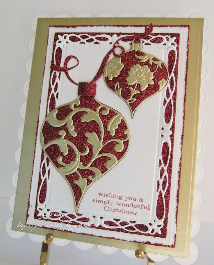 pamscrafts: First Christmas card 2014. memory box summer release.