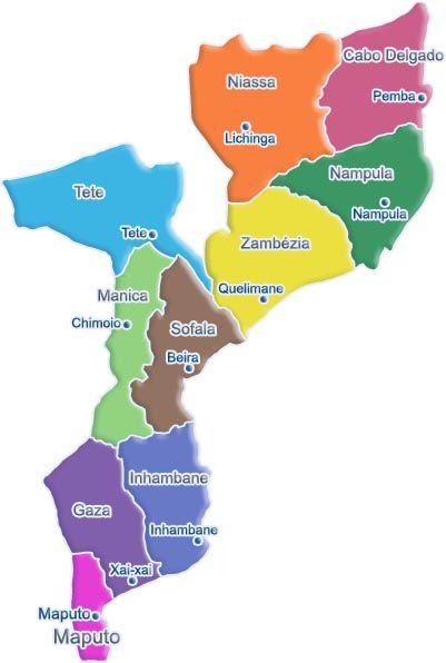 Moçambique -  mapa