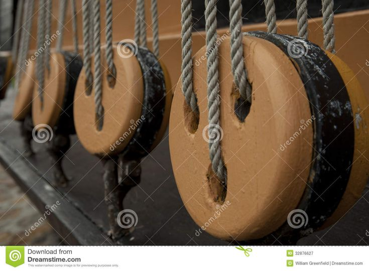 Block and Tackle on a ship | Wooden Block And Tackle Royalty Free Stock Photography ...