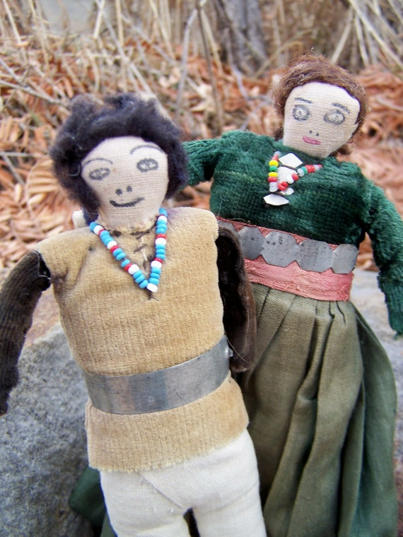 Navajo Cloth Dolls 1930s by papercherries on Etsy, $74.00
