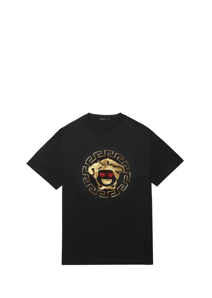 Versace goes emoji: be amazed by the brand new #Versace Emoji app - available for iOS and Android - and fall in love with the exclusive capsule collection of T-shirts for him and for her. Discover more on versace.com #VersaceSharesLove