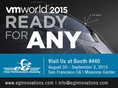 Visit Us @ VMWorld 2015, 30 August - 2 September 2015, Booth #440, Moscone Convention Center, San Francisco CA (US)