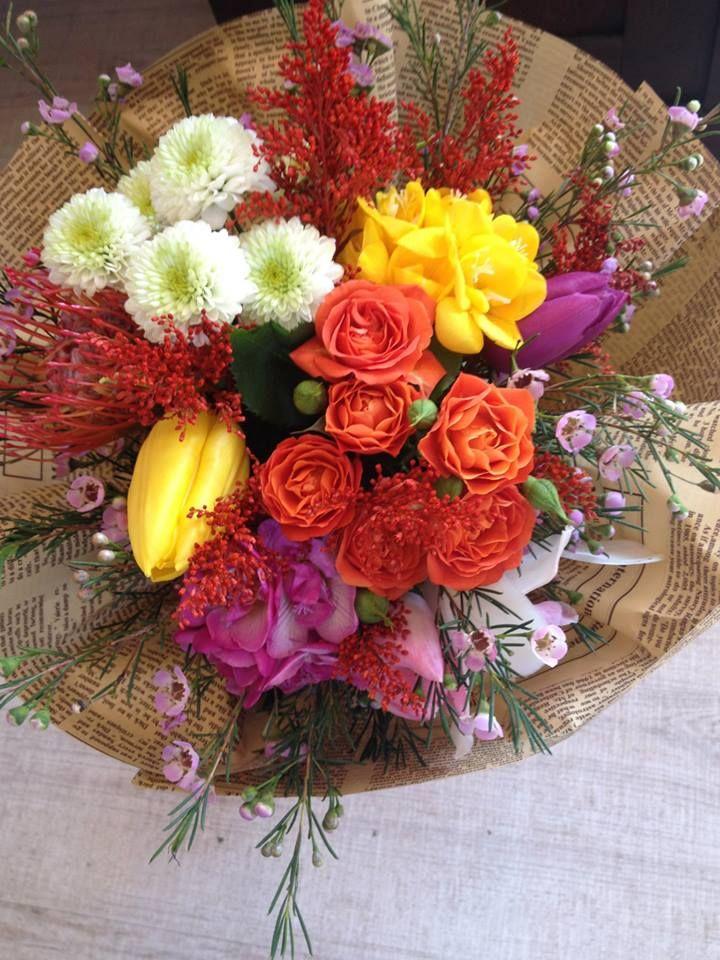 Spring flowers bouquet by Atelier Floristic Aleksandra