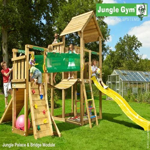 Jungle Gym Palace & Bridge Module - Wooden Climbing Frames fro Children : Wooden Climbing Frames for children