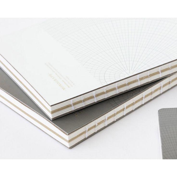 Notebook GEOMETRIC Light Grey - 17.7 x 25.2