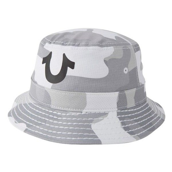 Men's True Religion Brand Jeans Camo Bucket Hat ($100) ❤ liked on Polyvore featuring men's fashion, men's accessories, men's hats, snow, mens fishing hats, mens hats, mens camo hats and mens bucket hats