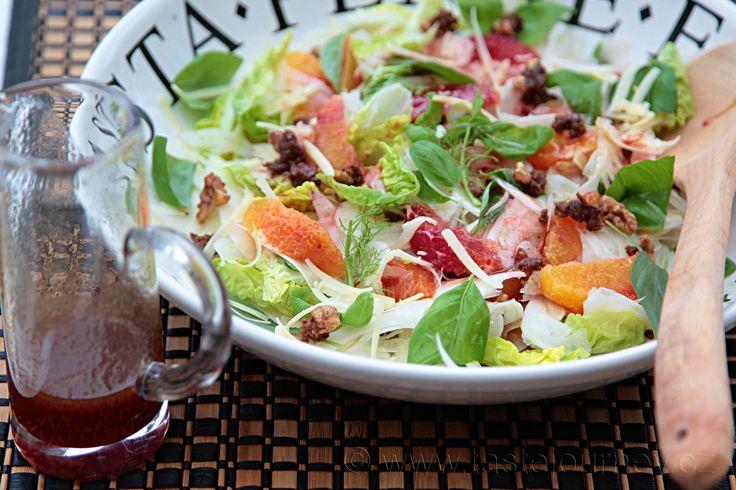 Fenyklový salát s krvavými pomeranči je klasické spojení chutí www.tastejoureny.cz