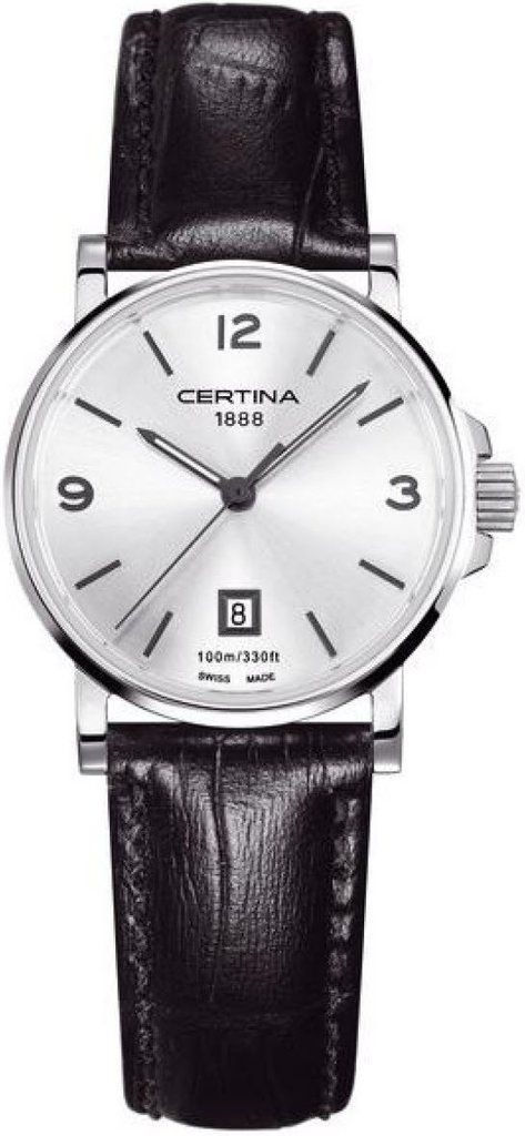 Certina Watch DS Caimano Lady Quartz #bezel-fixed #bracelet-strap-leather #brand-certina #case-material-steel #case-width-27mm #date-yes #delivery-timescale-7-10-days #dial-colour-silver #gender-ladies #luxury #movement-quartz-battery #official-stockist-for-certina-watches #packaging-certina-watch-packaging #style-dress #subcat-ds-caimano #supplier-model-no-c017-210-16-037-00 #warranty-certina-official-2-year-guarantee #water-resistant-100m