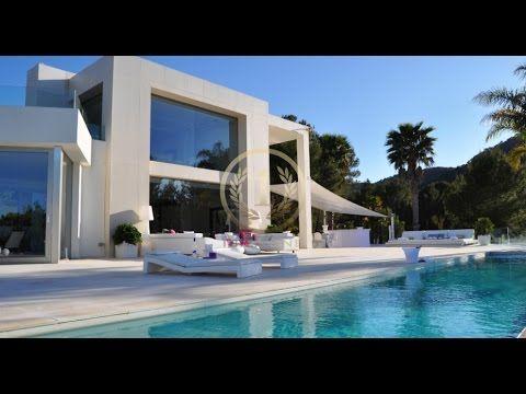 Fantastic modern new villa on Ibiza - Luxury Villas Ibiza - YouTube